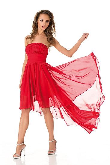 Robe de cocktail longue - D1436 Couleur Rouge