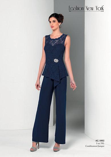 Combinaison pantalon cocktail - AG1802 Couleur Bleu marine