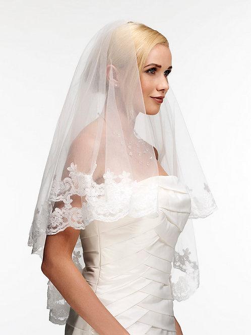 Voile de mariée tulle et dentelle - DJV 412