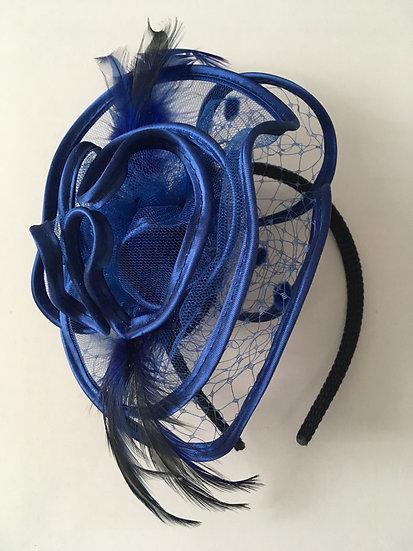 Coiffe Cocktail - Dejean 520186 Couleur Bleu Roi