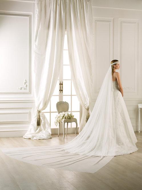 Voile de mariée tulle et dentelle - V-2785
