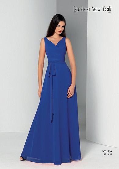 Robe de cocktail longue - NY2530 Couleur Bleu Roi