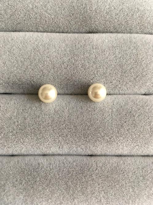 Boucle d'oreilles perle (0,8 cm)