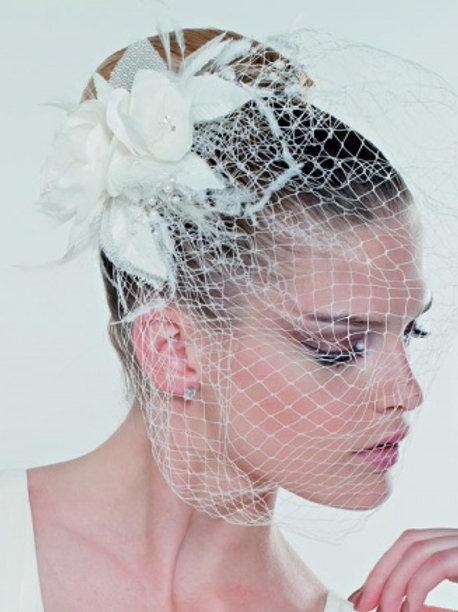 Coiffe de mariée avec voilette - 20000