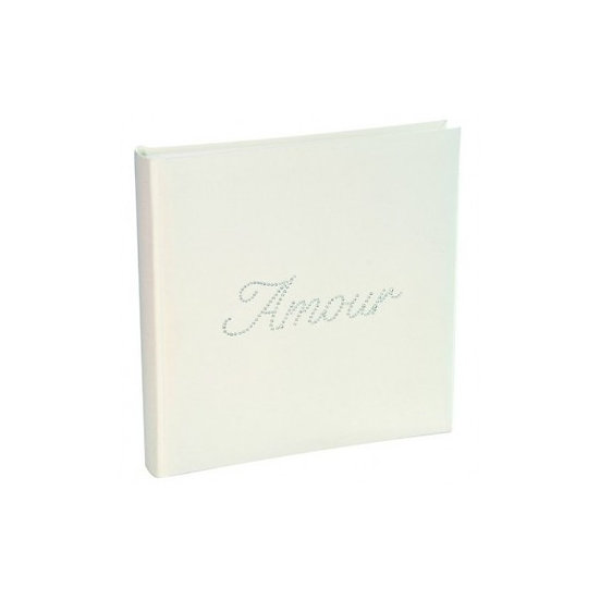 Livre d'or Strass - Amour Blanc