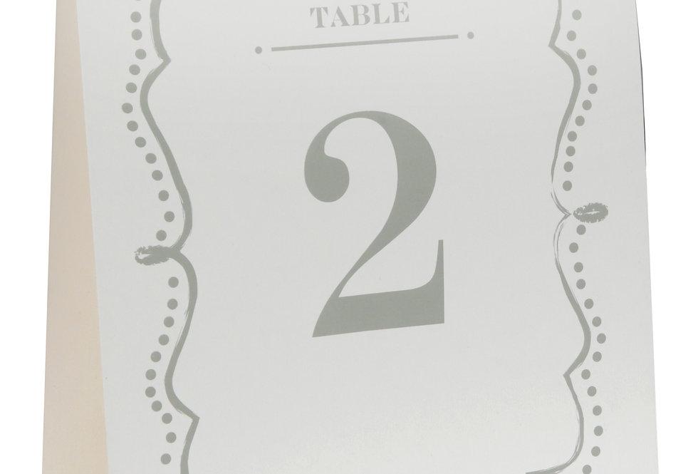 Sachet 10 Marques Tables Vintage Blanc - 5068