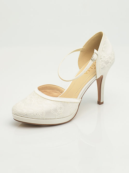 Chaussures de mariée dentelle AVALIA - MAYA