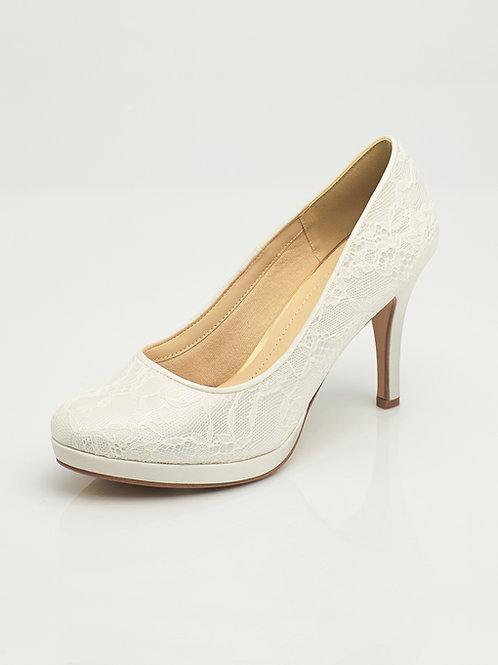 Chaussures de mariée dentelle AVALIA - SURI