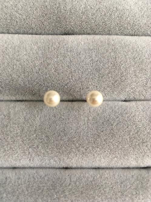 Boucle d'oreilles perle (0,6 cm)