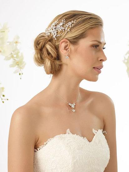 Coiffe de mariée cristal et strass Bianco Evento - 0394