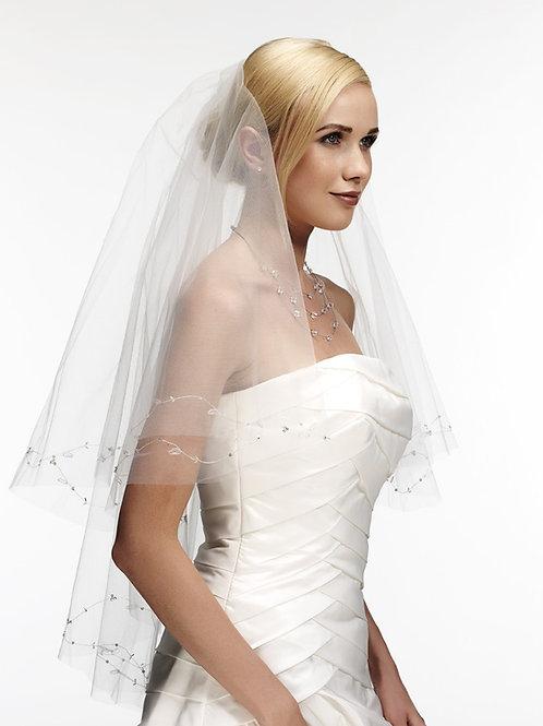 Voile de mariée tulle et broderie - DJV 403