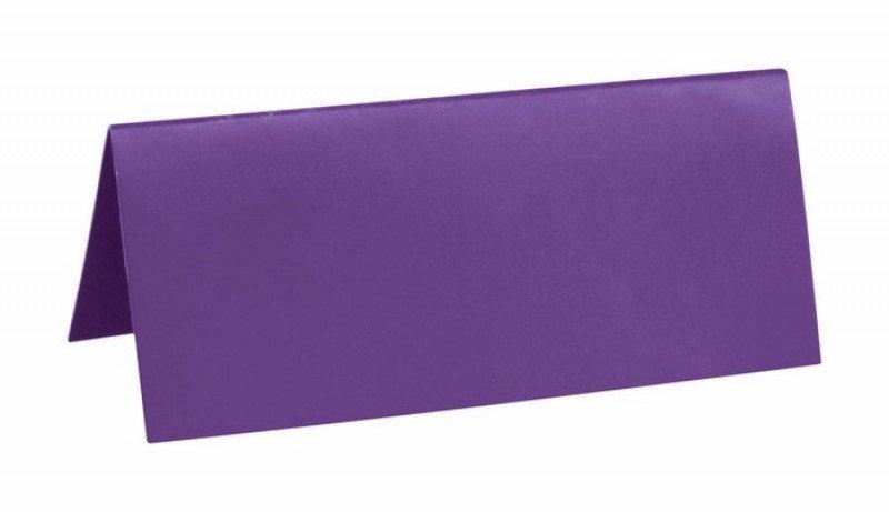 Sachet 10 marques places cartonnés - Violet