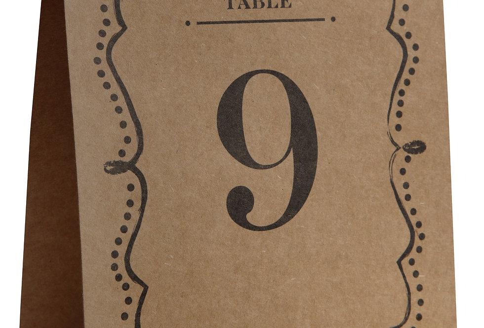 Sachet 10 Marques Tables Vintage Kraft - 5167