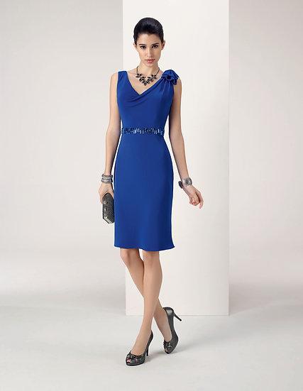 Robe de cocktail courte - 8J257 Couleur Bleu roi