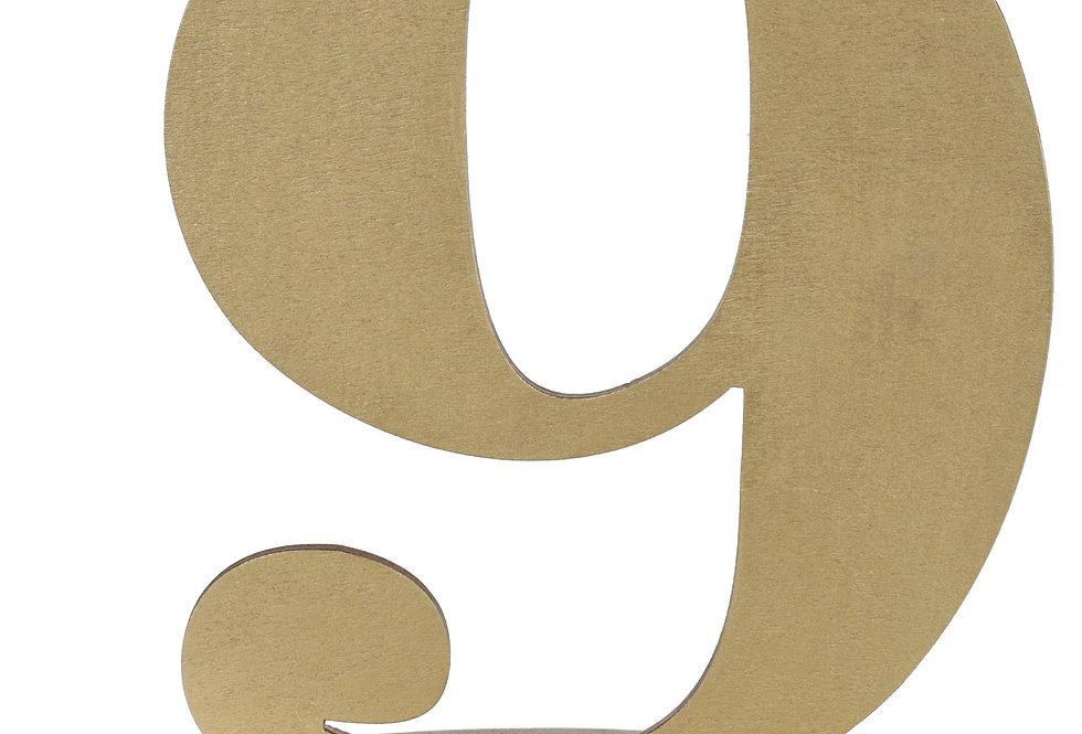 Chiffre 9 Métallisé Or - 6184