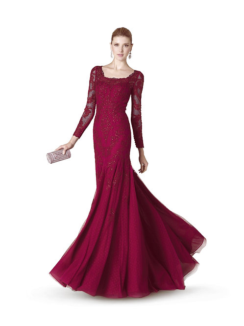 Robe de cocktail longue - 5333