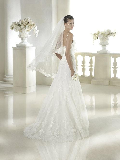 Voile de mariée tulle et dentelle - V-2808