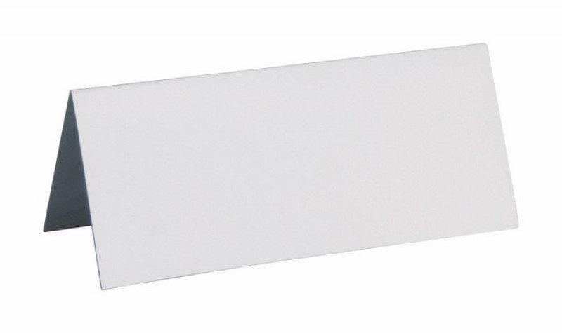 Sachet 10 marques places cartonnés - Blanc