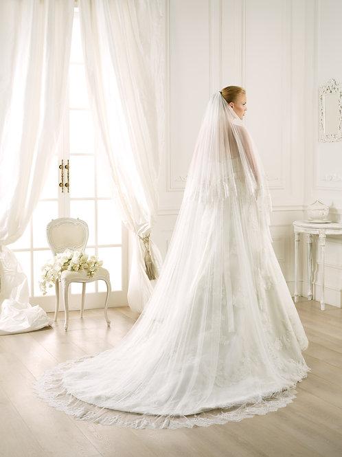 Voile de mariée tulle et dentelle - V-3724