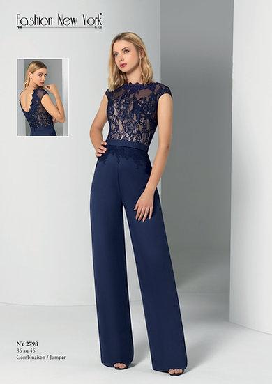 Combinaison pantalon - NY2798 Couleur Bleu marine