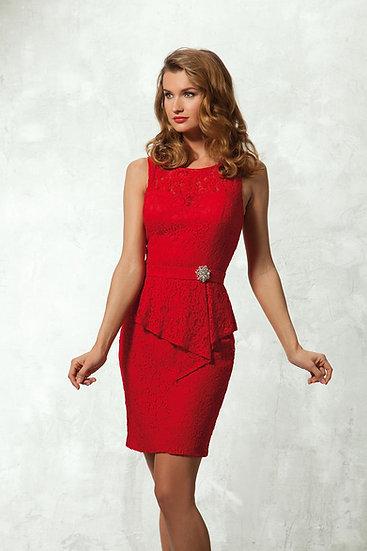 Robe de cocktail courte - NY2522 Couleur Rouge
