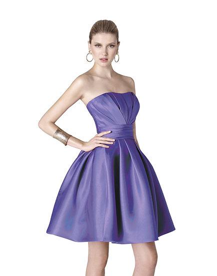 Robe de cocktail courte - 5306 Couleur Bleu roi