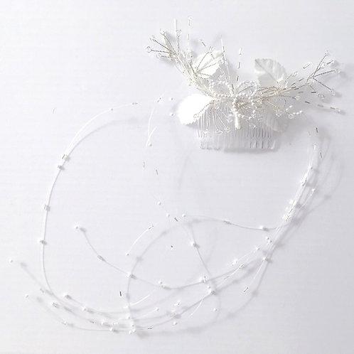 Peigne de mariée perles et cristaux - 15800