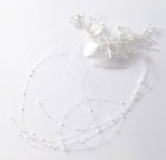 Peigne de mariée perles et cristaux Dejean - 15800