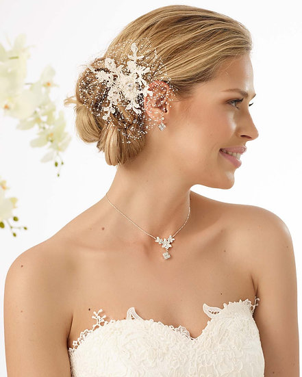 Coiffe de mariée avec strass Bianco Evento - 113