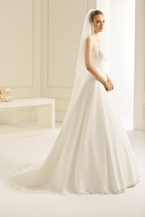 Voile de mariée en tulle souple - S251