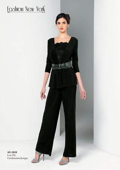 Combinaison pantalon - AG1810 Couleur Noir