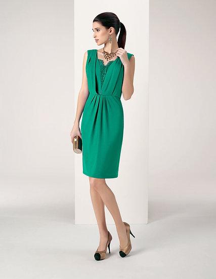 Robe de cocktail courte - 8J251 Couleur Vert émeraude