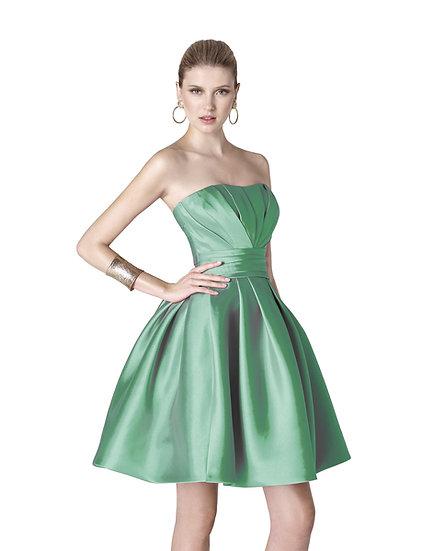 Robe de cocktail courte - 5306 Couleur Vert émeraude
