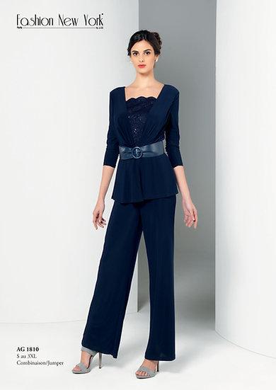 Combinaison pantalon - AG1810 Couleur Bleu marine