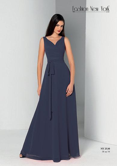 Robe de cocktail longue - NY2530 Couleur Bleu Marine