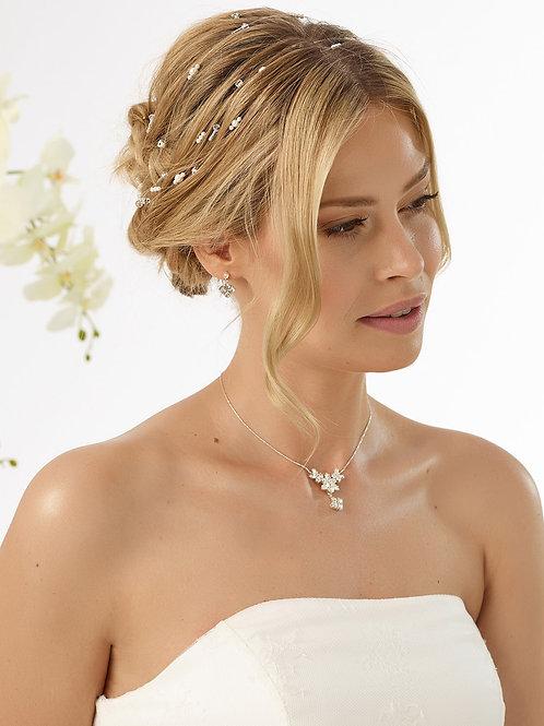 Coiffe avec perles et cristaux - 12175