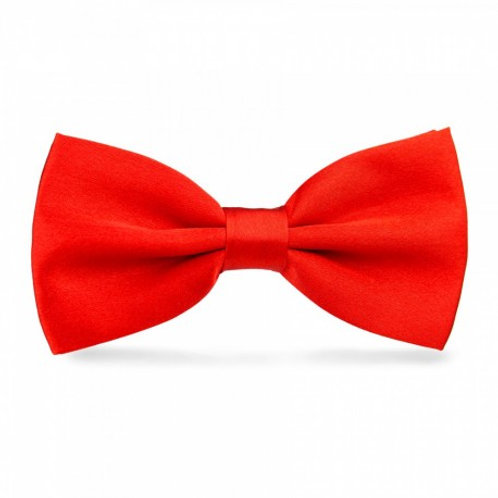 Noeud papillon satin - Rouge
