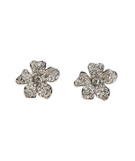 Boucles d'oreilles Fleur Strass - PT2566