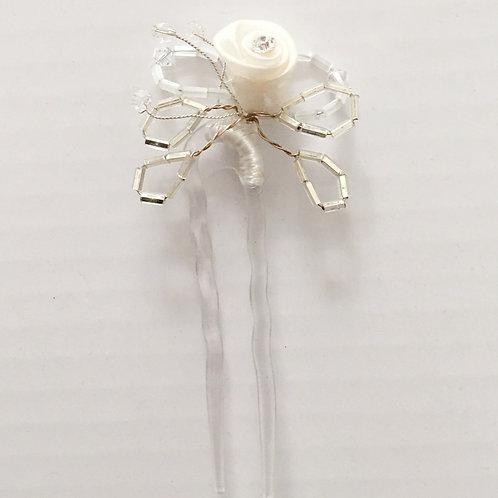 Fourche à chignon de mariée - Fleur