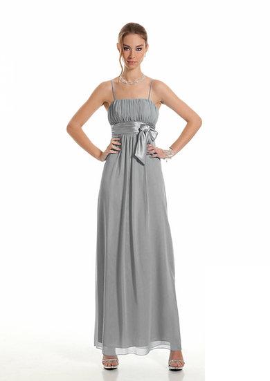 Robe de cocktail longue - D1076 Couleur Gris perle