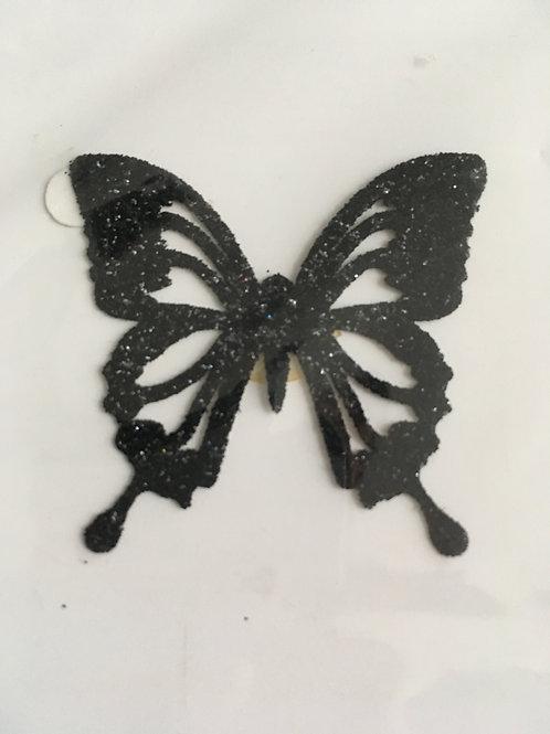 Bijou de peau Papillon - Noir
