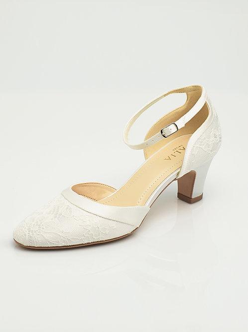 Chaussures de mariée dentelle AVALIA - KATI