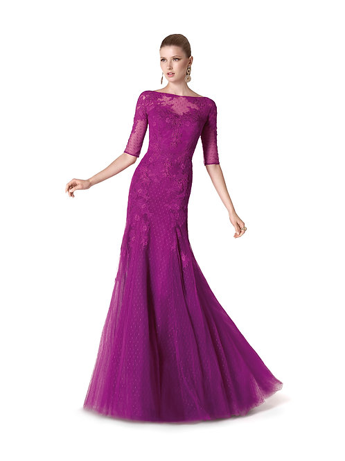 Robe de cocktail longue - 5313