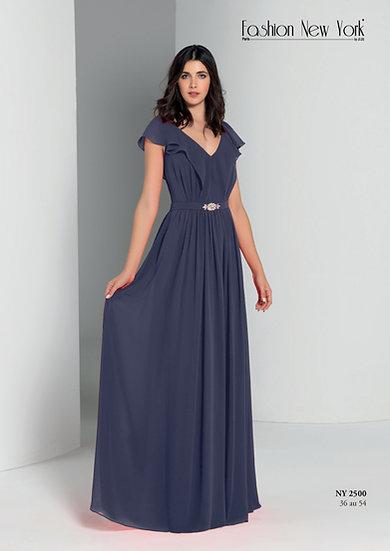 Robe de cocktail longue - NY2500 Couleur Bleu marine