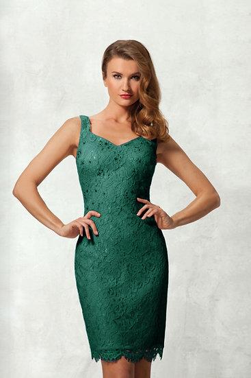 Robe de cocktail courte + Veste - NY2507 Couleur Vert émeraude