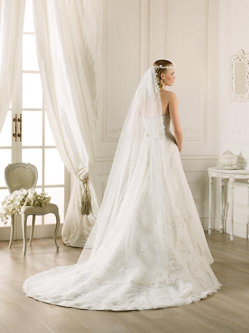 Voile de mariée tulle et dentelle - V-2784