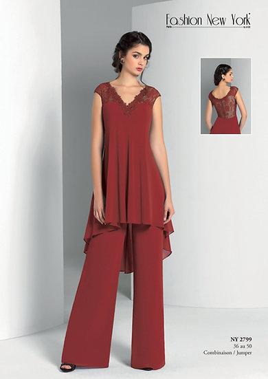 Combinaison pantalon - NY2799 Couleur Bordeaux