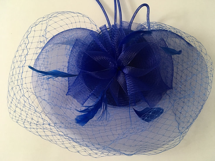 Coiffe cocktail - Berlioz Couleur Bleu Roi