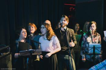 Primera promoción del curso avanzado de canto para doblaje (Café Berlín, junio 2018)