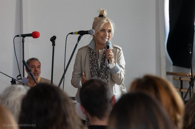 Maisa Hens participando en las jornadas de doblaje (junio 2019)